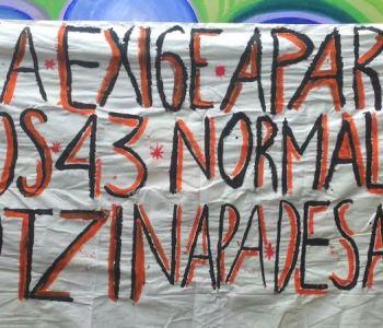 Exigen desde Oaxaca presentación con vida de los 43 normalistas de Ayotzinapa