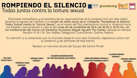 """Cierre anual de la campaña """"Rompiendo el silencio"""""""