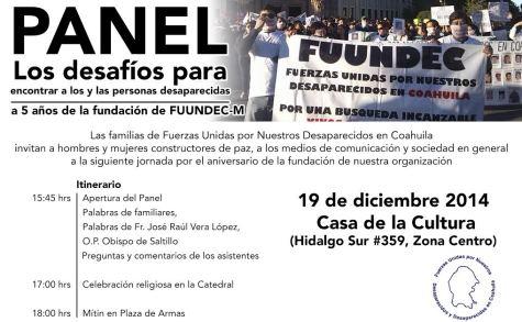 Aniversario de  Fuerzas Unidas por Nuestros Desaparecidos en Coahuila (FUUNDEC)