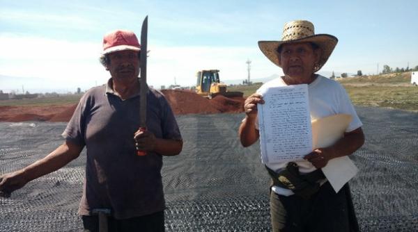 AU | Desmantelan campamento en oposición a la carretera Pirámides-Texcoco, parte del proyecto del NAICM