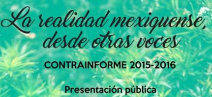 Invitación a ContraInforme en Tocuila. Todos y todas con el FPDT. Domingo 11 de septiembre de 2016