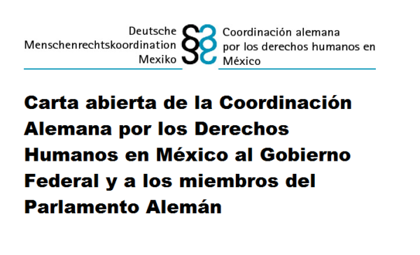 Coordinación Alemana por los Derechos Humanos en México exige esclarecimiento caso Ayotzinapa