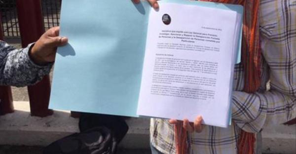 La CNCDF entrega a la Cámara de Diputados la iniciativa de Ley General para Prevenir, Investigar, Sancionar y reparar la Desaparición Forzada de Personas y la Desaparición de Personas cometidas por particulares