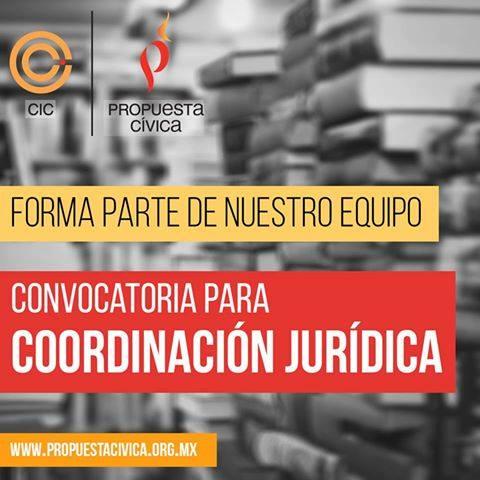 Propuesta Cívica | Vacante abierta Coordinación Jurídica